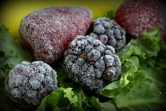Staying Healthy - Macro Mondays (Crisp-13) Tags: stayinghealthy macromondays staying healthy macro mondays banana strawberry blackberry kale leaf fruit smoothie