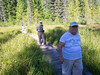 trillium hike (dolanh) Tags: hike shirle trilliumlake hiking mthoodwilderness meadow boardwalk lucas fred renee