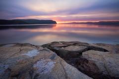 Lever de soleil sur la Baie Des Ha! Ha! (gaudreaultnormand) Tags: leverdesoleil longexposure longueexposition sunrise paysage eau ciel plage fjord saguenay quebec canada