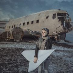 Last flight by Anya Anti - Self-portrait, Iceland