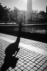 A man and his passion (doubleshotblog) Tags: shadow cbd australia sydney blackwhite photographer man muse passion