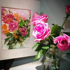 Day 775. The #rose #painting for today. #watercolour #watercolourakolamble #sketching #stilllife #flower #art #fabrianoartistico #hotpress #paper #dailyproject (akolamble) Tags: rose painting watercolour watercolourakolamble sketching stilllife flower art fabrianoartistico hotpress paper dailyproject