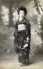 Swallows and Butterflies 1913 (Blue Ruin 1) Tags: geigi geiko geisha shinbashi shimbashi tokyo kimonomotif swallows butterflies japanese japan taishoperiod 1910s 1913 postcard teruha