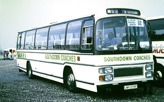 Slide 101-47 (Steve Guess) Tags: british coach rally thorpe park start chertsey surrey england gb uk lwv270p southdown tiger plaxton leyland coaches