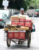 recycle man on his cart (the foreign photographer - ฝรั่งถ่) Tags: recycle man cart leo beer boxes bangkhen bangkok thailand canon kiss
