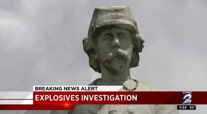 Networks Punt on Bombing Plot Against Confederate Monument in Houston