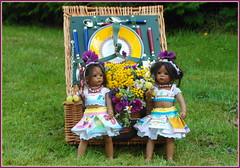 Picknicken mit den Minis ... (Kindergartenkinder) Tags: sommer blumen personen kindergartenkinder garten blume park annette himstedt dolls wasserschlosslembeck leleti