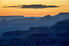 The Day is Done (Kirk Lougheed) Tags: arizona coloradoplateau grandcanyon grandcanyonnationalpark lipanpoint southrim usa unitedstates butte canyon cliff cloud landscape nationalpark outdoor park ridge rim silhouette sky summer sunset