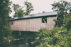 Quinlan Covered Bridge (jasohill) Tags: wood covered quinlan 2017 american vermont old bridges life tradition rural photography structure forest