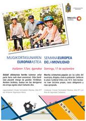 Cartel de la marcha cicloturista enmarcada dentro de la Semana Europea de la Movilidad 2017.