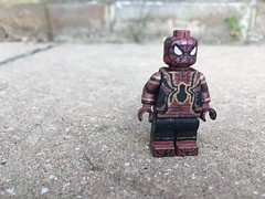 Spiderman Avengers Infinity War suit (Poole Lego Customiser) Tags: iron spider man homecoming avengers infinity war suit lego custom minifigure