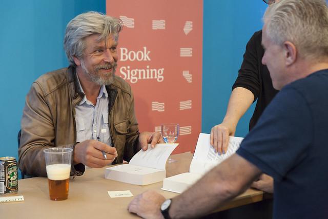 Karl Ove Knausgaard book signing