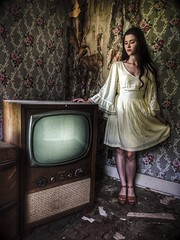 the past is now her present...(Carly-golden ranger house) (Aces & Eights Photography) Tags: abandoned abandonment decay ruraldecay oldhouse abandonedhouse oldtv