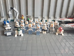 Phase II Starfighter Personnel (影Shadow98) Tags: lego star wars clone trooper pilots astromech droid starfighter forces personnel