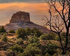 Square Butte at Sunset on Navajo Scenic Hwy 98, Arizona (PhotosToArtByMike) Tags: kaibitoarizona squarebutte sunset route163 navajoscenichighway kaibito navajonation indiantribe arizona az redsand desert sandstonebuttes mittenbuttes coconinocounty