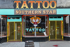 Southern Star Tattoo (N.the.Kudzu) Tags: urban city atlanta l5p georgia storefronts tattoo parlor canon70d lightroom
