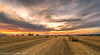 End Of The Harvest (Steven Peachey) Tags: sunset sky fields haybales farmland landscape evening autumn canon 5dmarkiv canon5dmarkiv lee09gnd leefilters stevenpeachey harvest colours exposure dusk clouds light lowlight