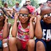 The event drew lots of kids, many of whom were seeing an eclipse for the first time.