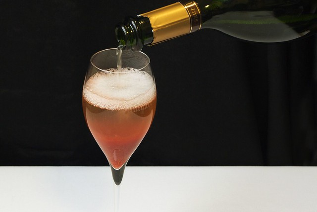 ROH Rhubarb Champagne Bellini Cocktail