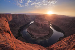 Horseshoe-ben-028 (oherrmann) Tags: horseshoebend horse shoe horseshoe bend usa az arizona canyon water reflection landscape landmark nature cliff sun sunset sky clouds travel
