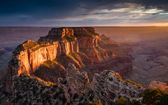 Sunset at Cape Royal (Jeremy Duguid) Tags: grand canyon national park cape royal sunset wotans throne nature landscape travel sony dusk clouds arizona southwest southwestern az west usa road trip hiking outdoors