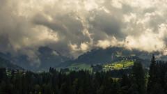 Cloud Lights (Netsrak) Tags: at österreich austria kleinwalsertal baum bäume wald forest tree trees riezlern gebirge alpen berg berge licht wiese feld wolke wolken