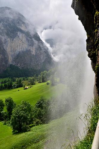Behind Staubbach Falls