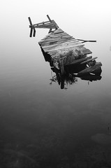 the old jetty (Stefano Rugolo) Tags: stefanorugolo pentax k5 smcpentaxda1855mmf3556alwr monochrome minimalism backlight blackandwhite jetty old summer lake water transparence tranquillity hälsingland sweden sverige reflections serene negativespace tones