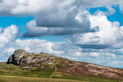 Fair weather clouds over Haytor Rocks