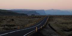Tie / Road (Olli Tasso) Tags: road tie islanti iceland asfaltti mountain vuori sunset auringonlasku maisema landscape evening ilta pink sky travel matkailu outdoors karu