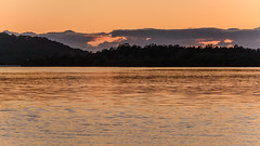 Daybreak Waterscape and Silhouettes (Merrillie) Tags: view woywoy color nature australia mountains water clouds weather newsouthwales light brisbanewater nsw scene silhouettes scenery coastal dawn coast scenic daybreak sky waterscape sunrise centralcoast landscape bay