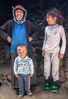 Grandma, Granddaughter & Grandson, Alem Village, Kars, Turkey