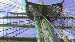 on The BAP Union Peru in Rotterdam 3D (wim hoppenbrouwers) Tags: bap union peru rotterdam 3d anaglyph stereo redcyan bapunión sailingvessel mast ship boot boat vessel