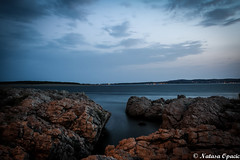 You Cannot Be Lonely If You Like The Person You're Alone With (_Natasa_) Tags: landscape seascape stone sea longexposure blue nature povljana pag croatia hrvatska island pagisland otokpag natasaopacic natasaopacicphotography beach sky water canon canonef2470mmf28liiusm canoneos7d abigfave
