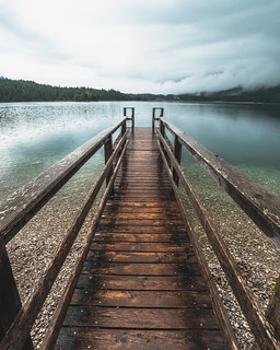 Pier at the beautiful Eibsee