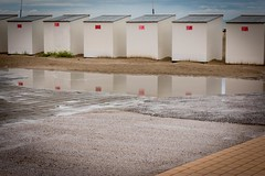 After the rain... (B.enn) Tags: nieuwpoort rain sea beach dijk belgium belgie belgique eos 70d canon reflection reflectie weerspiegeling