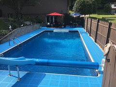 Blue Pool Deck - Non Slip Surface (Greatmats) Tags: patio plastictile pooldeck outdoorpool outdoorswimmingpool swimmingpool deck poolarea pooldecktile pooldeckfloor patiotile decktile