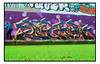 STREET ART by THE SAYER (StockCarPete) Tags: sayer thesayer graffiti hackney hackneywick streetart londonstreetart spraycanart aerosolart graff london uk wallart canal waterways duckweed algae lowpov dogwalker
