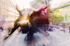 Bull Market (arlene sopranzetti) Tags: wall street charging bull nyc new york city finance stocks market snort zoom