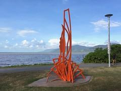 as yet untitled (harry de haan, the cameraman) Tags: harrydehaan publicart cairns esplanade australia fnq orange windblownleaves