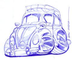 vocho a lapicero (ivanutrera) Tags: vocho draw volkswagen dibujo drawing dibujoalapicero dibujoaboligrafo boligrafo lapicero sketch sketching ilustracion drawingcar auto coche