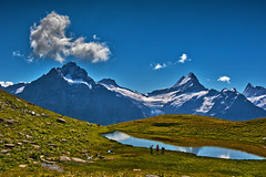 Hiking in Switzerland ; Grindelwald , Trift , above Bachsee . No. 8813. (Izakigur) Tags: helvetia liberty izakigur flickr feel europe europa dieschweiz ch lasuisse musictomyeyes nikkor suiza suisse suisia schweiz romandie suizo swiss svizzera سويسرا laventuresuisse lepetitprince myswitzerland landscape alps alpes alpen switzerland schwyz suïssa berneroberland bern berna berne kantonbern cantonofbern grindelwald wasser eau d700 nikond700 nikkor2470f28 topf25 100faves 500faves