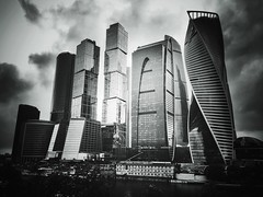 #Moscow City black and white panorama (NO PHOTOGRAPHER) Tags: hochhaus gebäude cityscape skyline detail construction blackandwhite monochrome architecture architectural urban building outdoor iphoneography iphonephotography exterier russia moscowcity technoart sky clouds blue skycraper iphone 6s panorama panoramatic москва россия архитектура строительство река мост moscowphotography