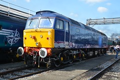 """Rail Operations Group Class 47/8, 47813 (37190 """"Dalzell"""") Tags: rog railoperationsgroup blue connectivitylogos brush sulzer type4 duff spoon class47 class478 47813 47658 47129 d1720 gwr greatwesternrailway firstgroup legendsofthegreatwestern openday ooc111 oldoakcommon depot london"""