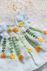 Handmade Embroidered Dresses (Ylang Garden) Tags: lati yellow pukifee handmade dress embroidered
