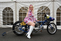 Jackie_5713 (Fast an' Bulbous) Tags: girl woman pinup model hot sexy blonde hair boots santa pod people otdoor dragbike classic motorcycle hotty legs mature milf