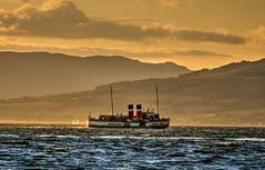 The Waverley (Phelan (Shutter Clickin) Goodman) Tags: largs scotland clyde paddle steamer ps waverley sailing islands arran bute sunset golden hour panasonic gx80