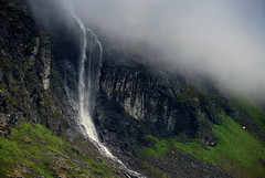 Water from the clouds (DoctorMP) Tags: norwegia norway norge moreogromsdal romsdal romsdalsalpene mountains summer landscape waterfall chmury wodospad lato góry clouds slufsa