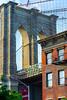 Apartment by the Bridge (street level) Tags: brooklynbridge apartmentbuilding dumbo architecture newyorkcity nikon nyc gothamist americanflag