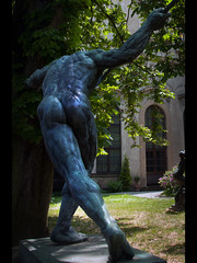 And stretch.... (Stuart-Lee) Tags: prague praha czechrepublic sculpture statue